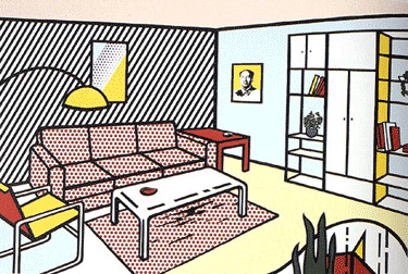 Roy lichtenstein living room