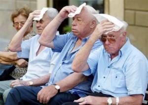 caldo tre anziani