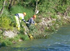 pulizia fiume