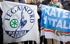 Lega Nord - FDI - bandiere