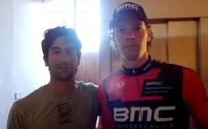 Nur con Daniel Oss, prima maglia ciclamino al Giro del Trentino vinto da Evans.