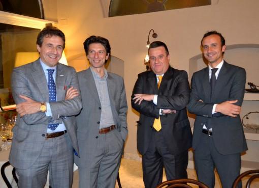 Da sinistra Franco Rocchi, l'ingegner Ermanno Fossati, Severino Beri e l'architetto Marco Rossi