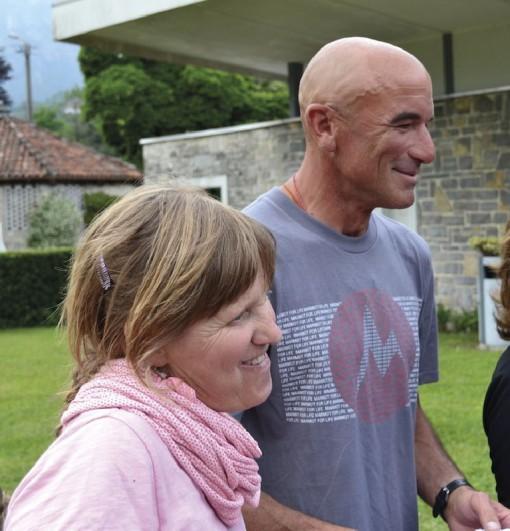 Mario Panzeri e sua moglie Paola.
