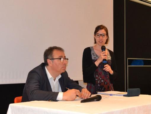 """Gli onorevoli Massimo Fiorio e Veronica Tentori al """"Don Guanella"""" di Lecco."""
