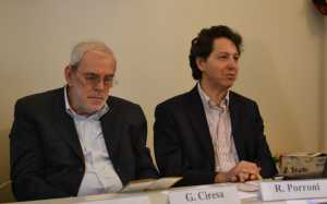 Il presidente Ciresa (a sinistra) e il maestro Porroni.