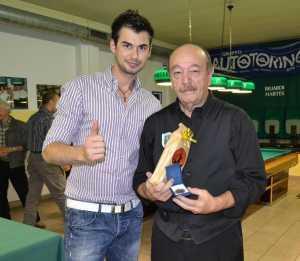 La premiazione del vincitore, Antonio Tripodo.