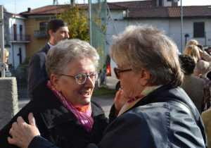 Fausta Arrigoni (a sinistra) e Anita Polti, autrici del libro sulla Missione di Bimengué.