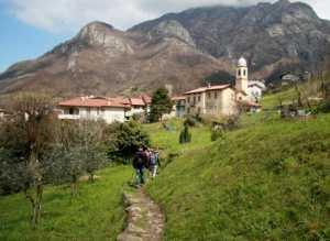 Un tratto del frequentatissimo sentiero del viandante.