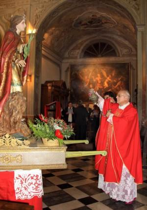 Don Luigi Prandi, parroco di Vassena.