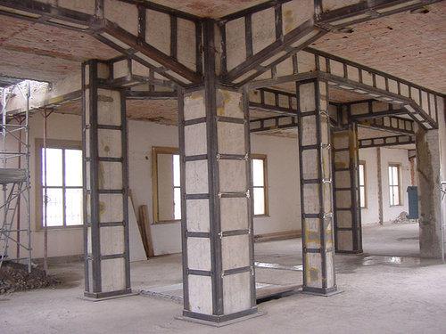 esempio di rinforzo strutturale di un edificio in cemento armato fonte: www.divisare.com