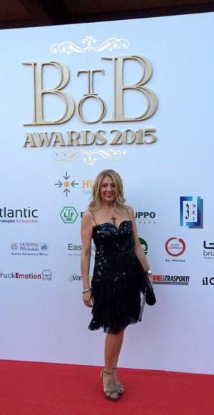 Esa Secca, project manager di Villa Lario resort, sul red carpet degli Oscar brianzoli dell'imprenditorialità.