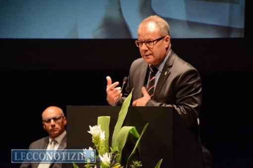 Il sindaco Virginio Brivio, intervenuto alle celebrazioni