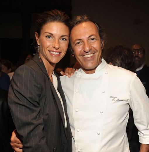 Martina Colombari con lo chef Filippo La Mantia.
