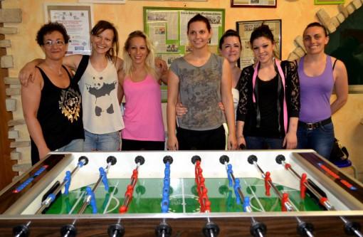 """Le giocatrici che lo scorso giugno parteciparono al tocircolo Arci """"La Dolce vita"""" di Mandello."""