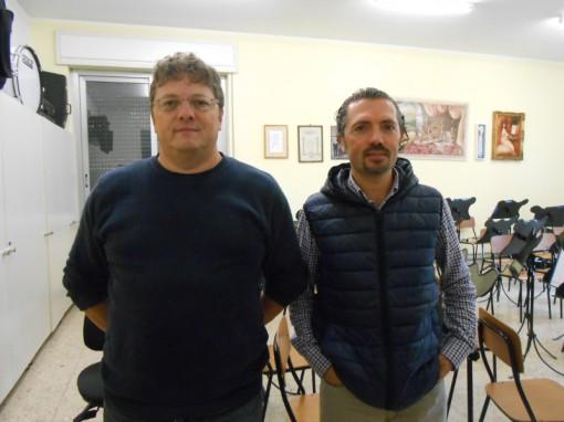 il vicemaestro Giuseppe Galli e il maestro di clarinetto Francesco Chimienti