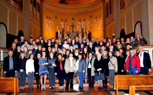 I cantori che sabato 21 novembre hanno accompagnato la celebrazione eucaristica nella solennità di Cristo Re e per onorare la patrona Santa Cecilia.