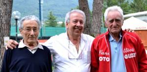 Da sinistra Franco Faggi, il presidente Livio Micheli e Giuseppe Moioli.