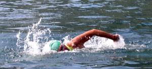 """Il """"caimano del Lario"""" e il nuoto, un binomio inscindibile."""