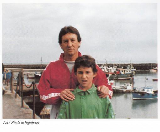 Un giovanissimo Nicola Callone in una foto che lo ritrae con papà Leo.