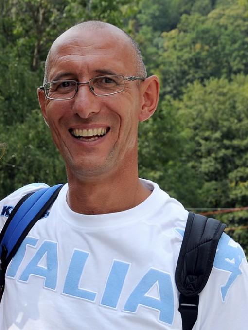 """Piero Poli, oro a Seul nel 1988 con il """"quattro di coppia""""."""