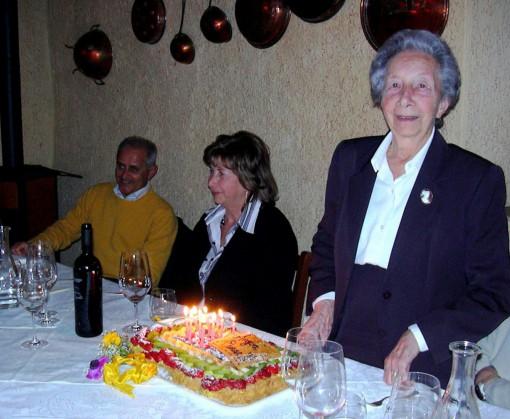 Tina Malagodi Gatti il giorno del suo novantesimo compleanno.