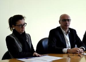 Silvia Dozio e il presidente Daniele Riva.