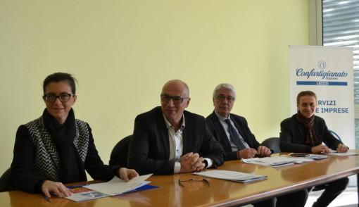 Da sinistra Silvia Dozio, Daniele Riva, Vittorio Tonini e Dante Proserpio durante l'incontro di giovedì 17 dicembre con la stampa.