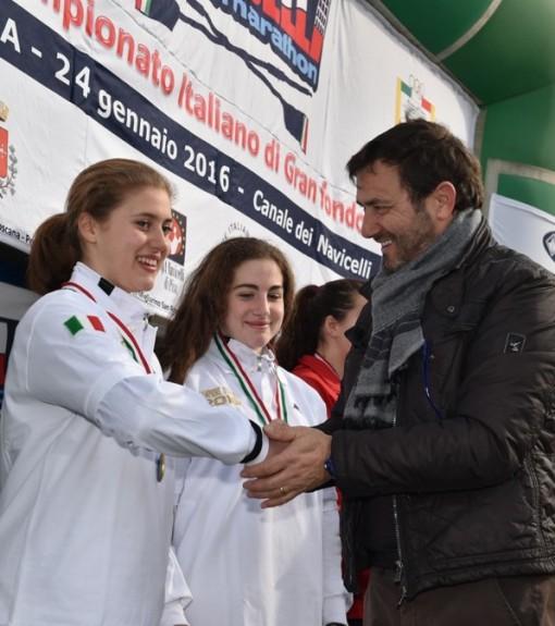 La cerimonia di premiazione della mandellese Arianna Passini.