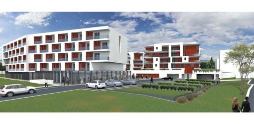 Il progetto edilizio per le palazzine che dovrebbero sorgere sull'area