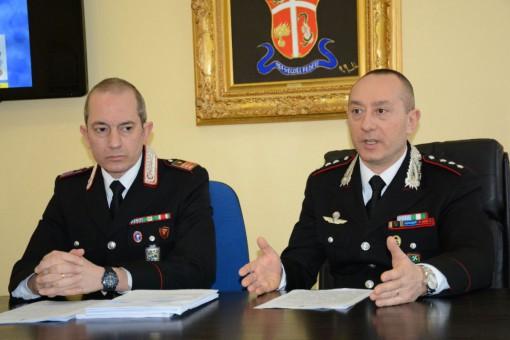 Il Luogotenente Germano Montanari e il capitano Roberto De Paoli