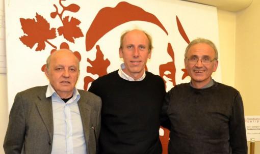 Da sinistra Tino Conti, don Agostino Frasson e Gianbattista Baronchelli.