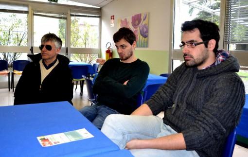 Da sinistra, Silvano Stefanoni, Andrea Santini e l'assessore Luca Picariello.