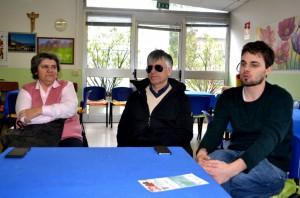 Da sinistra, il sindaco di Abbadia Lariana, Cristina Bartesaghi, Silvano Stefanoni e Andrea Santini.