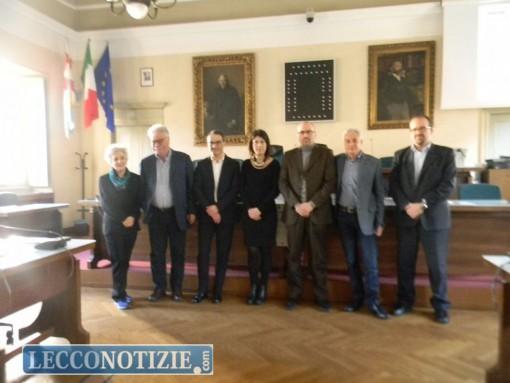 """Gli organizzatori di """"Filosofia Oggi"""" nella conferenza stampa a Palazzo Bovara"""