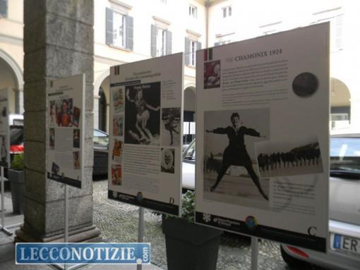 Alcuni dei pannelli che compongono l'esposizione di Palazzo Bovara