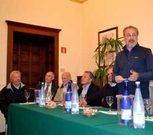 """Un momento della presentazione della lista """"Uniti per Varenna"""" venerdì 13 maggio a Villa Cipressi."""