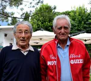 Franco Faggi, a sinistra, con Giuseppe Moioli.