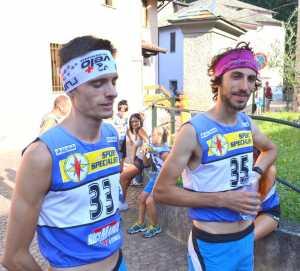 Il vincitore Paolo Bonanomi (a destra) e Luca Lafranconi, liernese, secondo classificato.