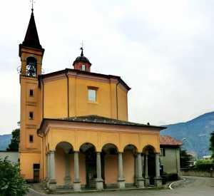 Il santuario della Beata Vergine del Fiume a Mandello.