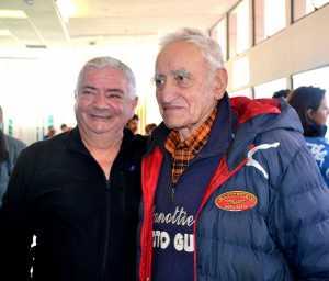 Gerolamo Stasi, curatore della mostra, con Giuseppe Moioli.